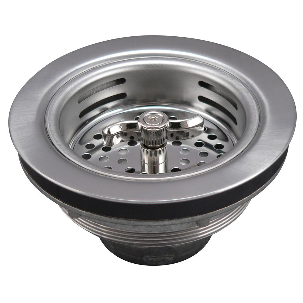 3-1/2 in. Turn 2 Seal Sink Strainer in Stainless Steel
