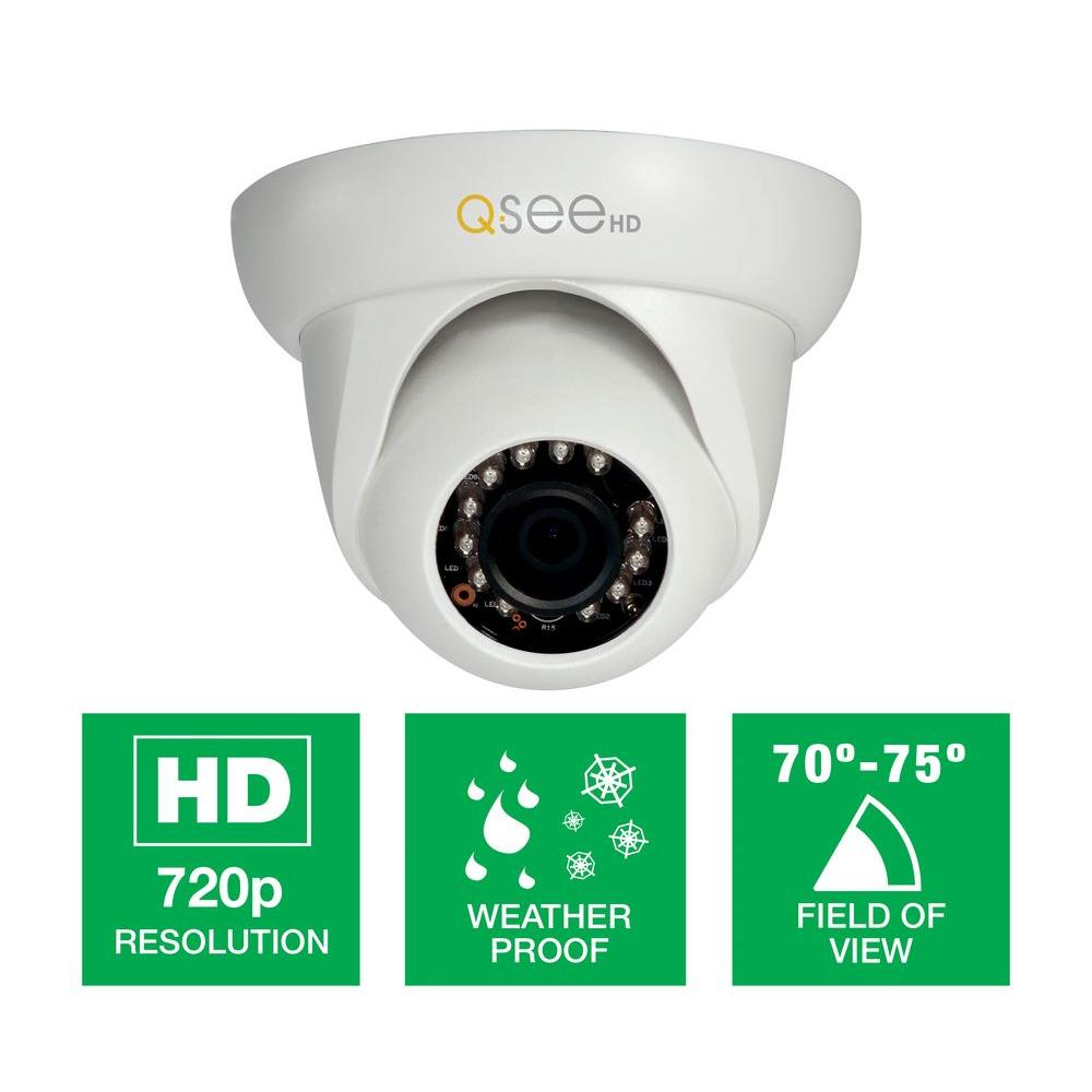 Q-SEE Platinum Series Wired High-Definition 720p Indoor Dome Camera with 65 ft. Night Vision