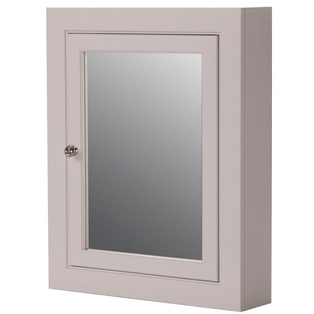 Martha Stewart Living Seal Harbor 23 in. W x 28 in. H Surface-Mount Medicine Cabinet in Sharkey Gray