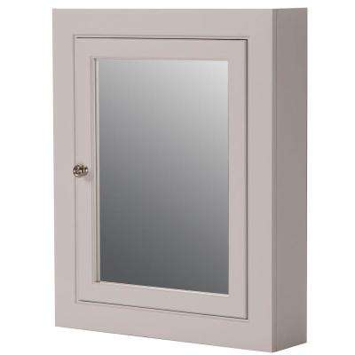 Seal Harbor 23 in. W x 28 in. H Surface-Mount Medicine Cabinet in Sharkey Gray