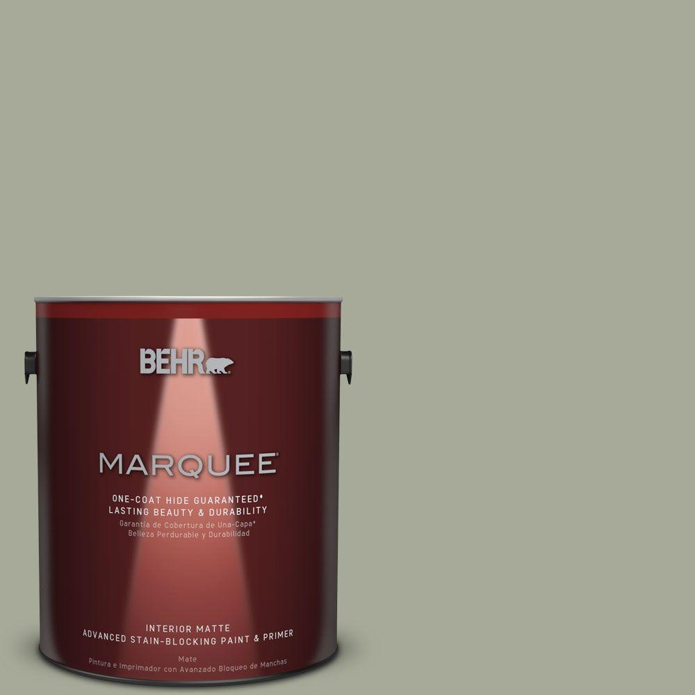 BEHR MARQUEE 1 gal. #PPU10-16 Simply Sage One-Coat Hide Matte Interior Paint
