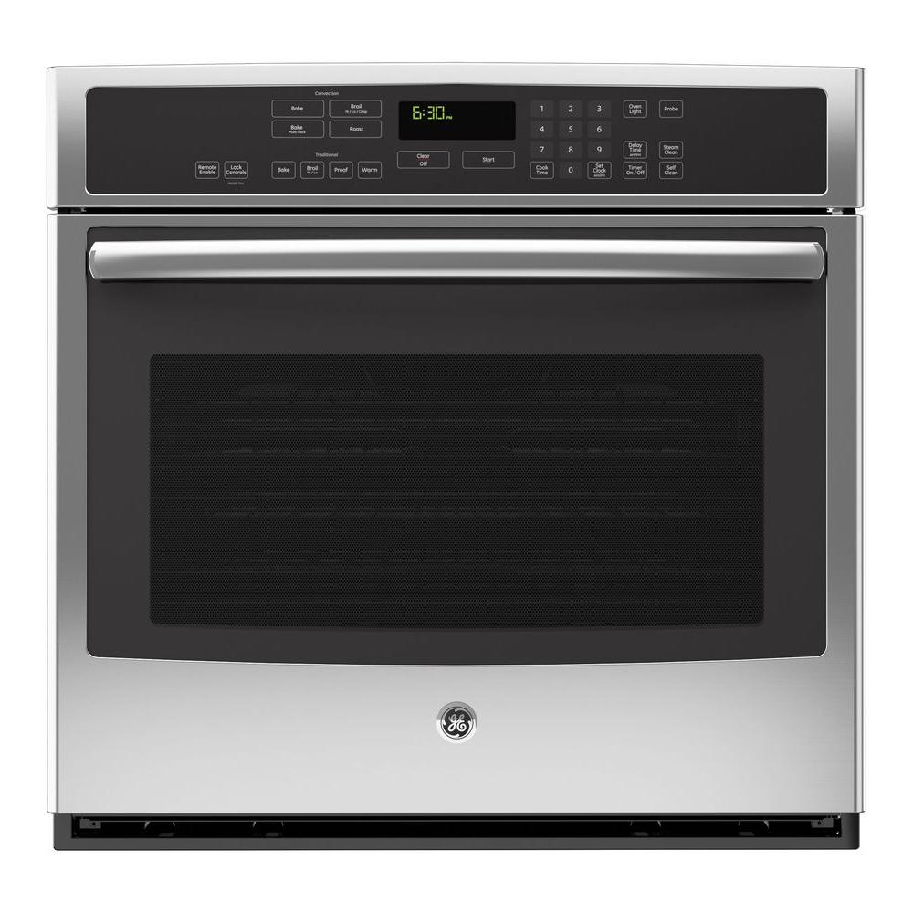 GE Profile 30 in. Single Electric Smart Wall Oven Self-Cleaning with Convection and WiFi in Stainless Steel