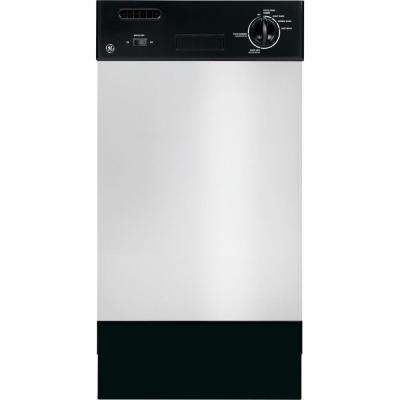 18 in. Front Control Dishwasher in Stainless Steel with Stainless Steel Tub