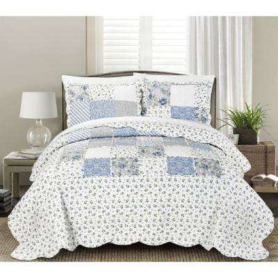 Beatrice Blue King Quilt Mini Set