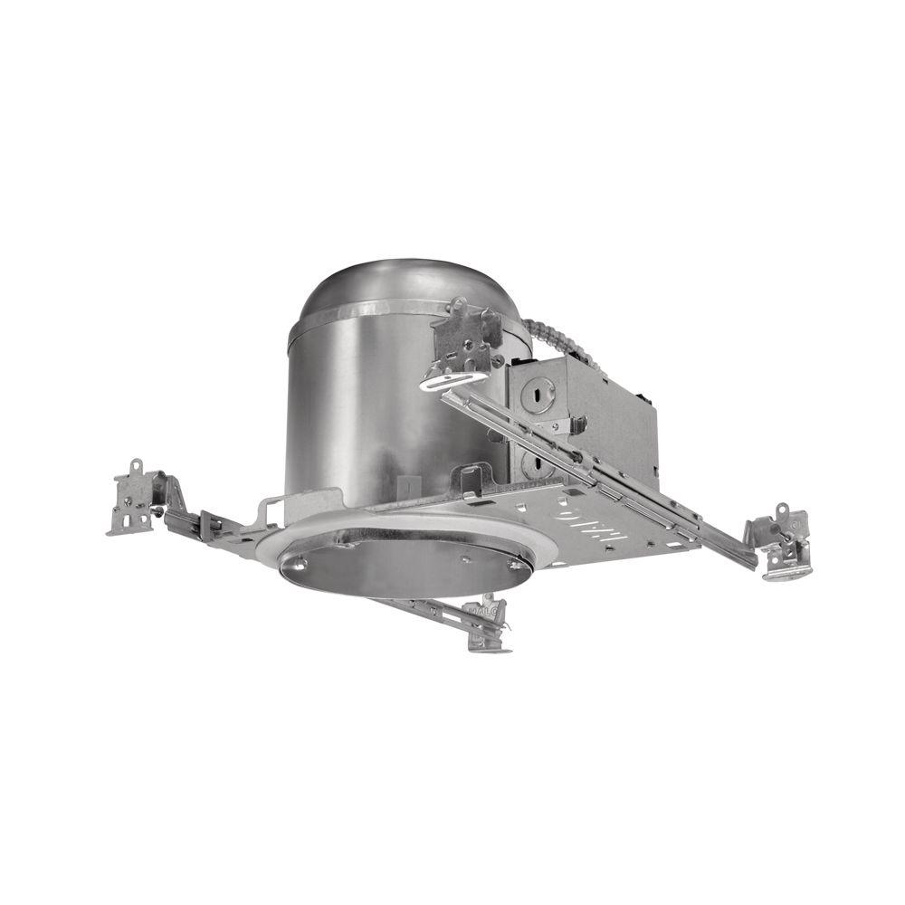 Halo H750 6 in. Aluminum LED Recessed Lighting Housing for New Construction Ceiling, T24 Rated, Insulation Contact, Air-Tite