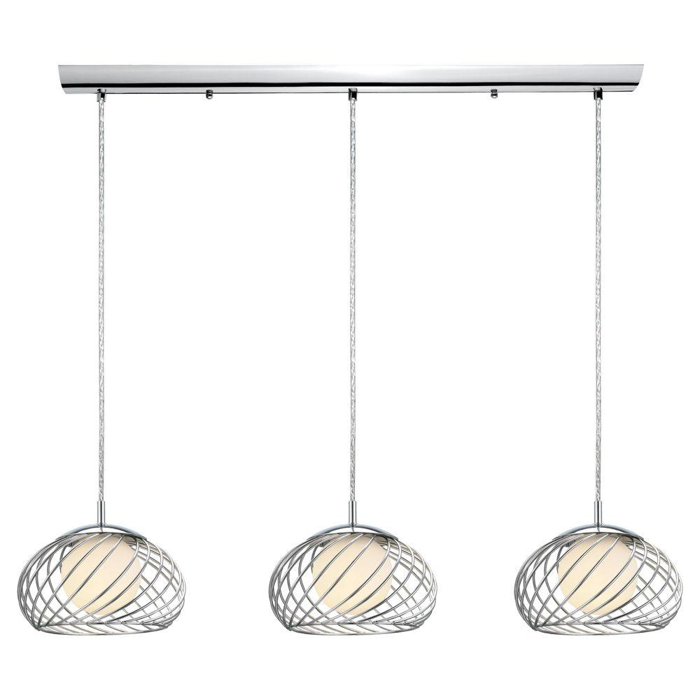 null Thebe 3-Light 47.25 in. Ceiling Chrome Pendant-DISCONTINUED