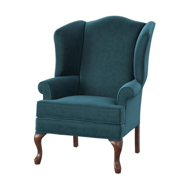 Quality Components Plus Elizabeth Ocean Wingback Chair 7000 12 The Home Depot