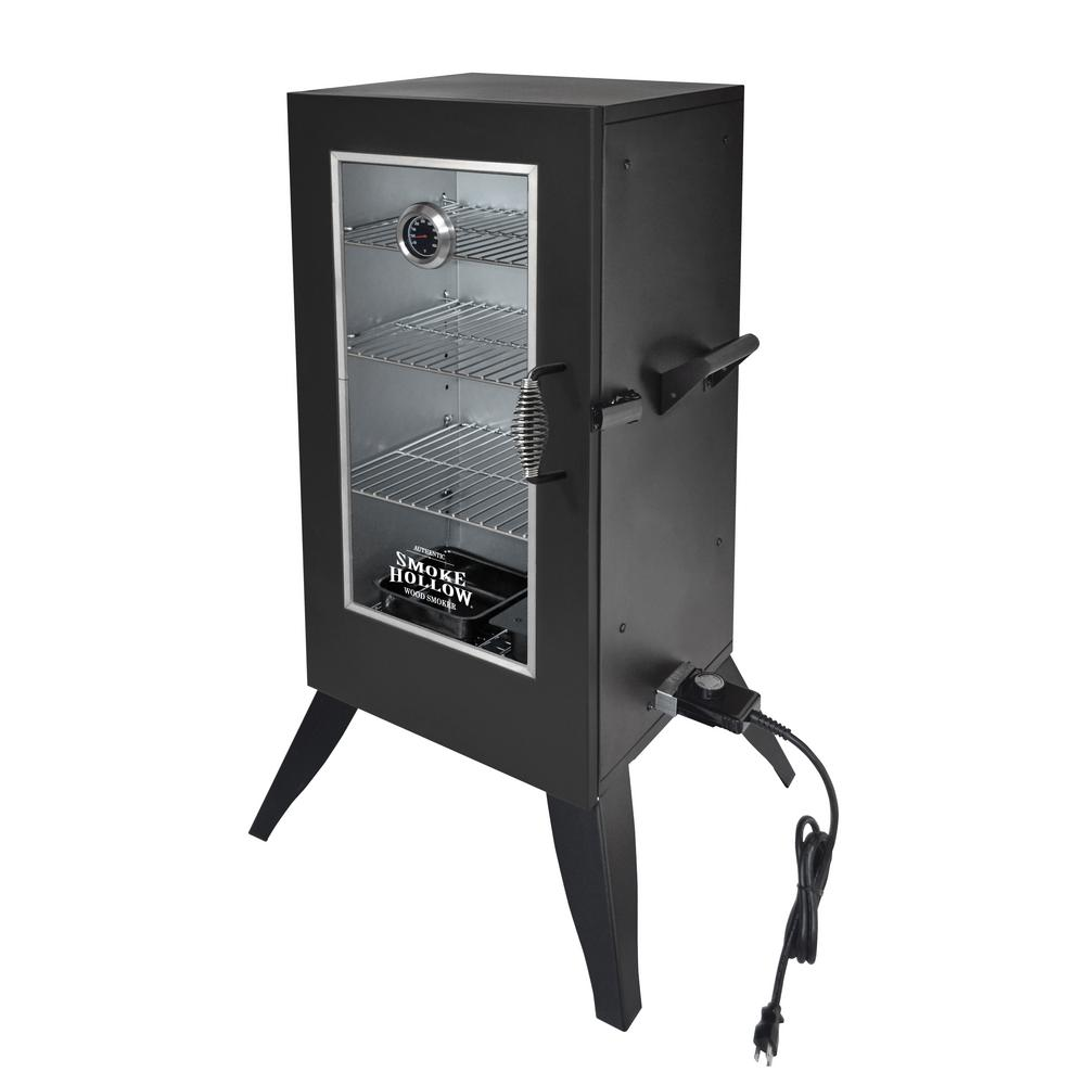 Vertical Electric Smoker With Window 30162EW   The Home Depot