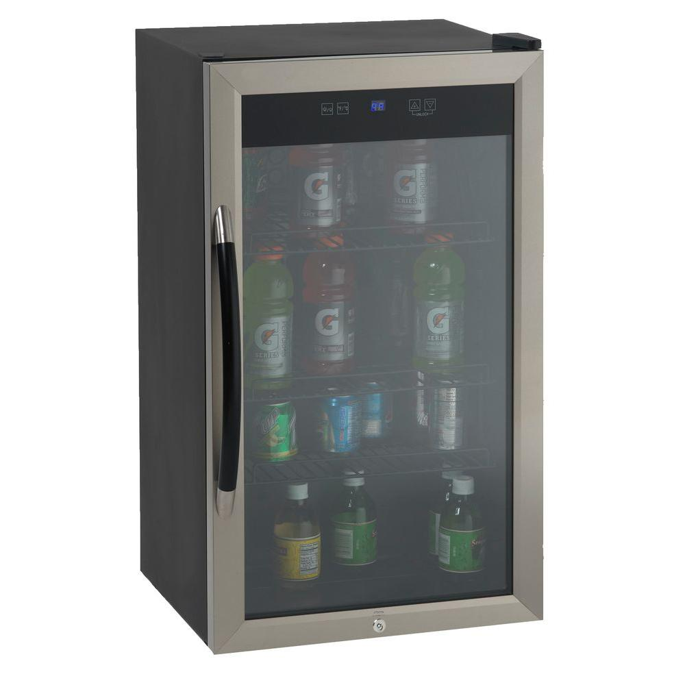 Avanti 1875 In 10 Bottle Wine And 70 Can Beverage Cooler In Black