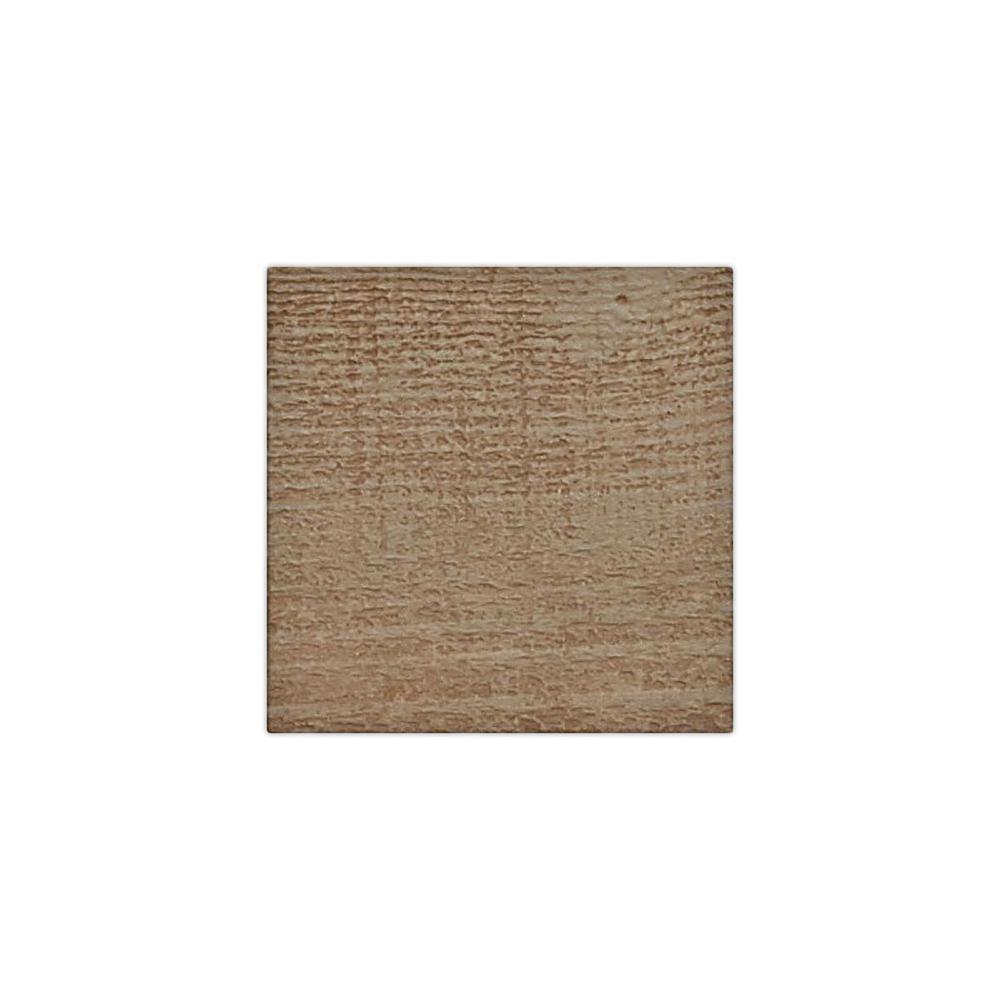 6 in. x 6 in. Rough Sawn Honey Dew Endurathane Faux Wood Ceiling Beam Material Sample