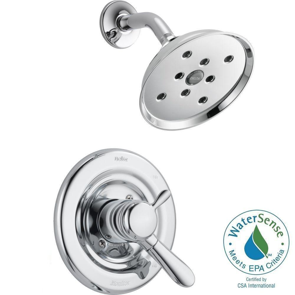 Delta Classic 1-Handle Shower Faucet Trim Kit in Polished Brass ...