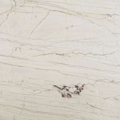 3 in. x 3 in. Quartzite Countertop Sample in Macaubus White Quartzite