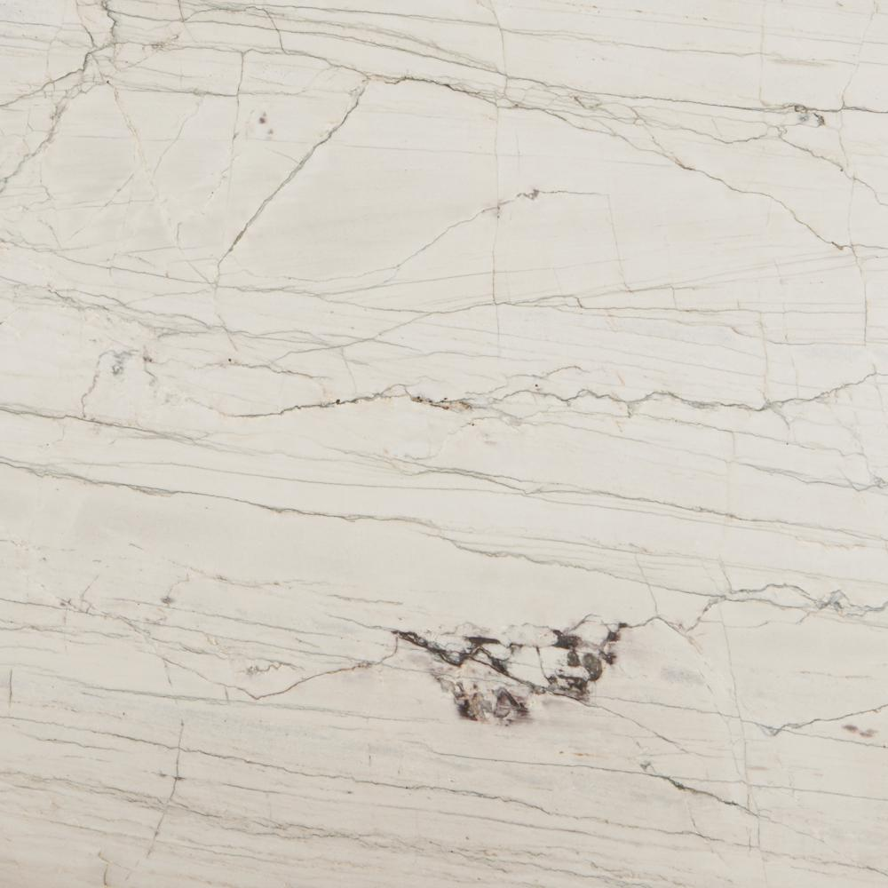STONEMARK 3 in. x 3 in. Quartzite Countertop Sample in Macaubus White Quartzite