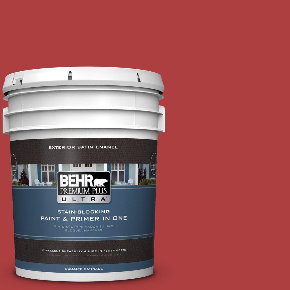 BEHR Premium Plus Ultra 5-gal. #160B-7 Daredevil Satin Enamel Exterior Paint