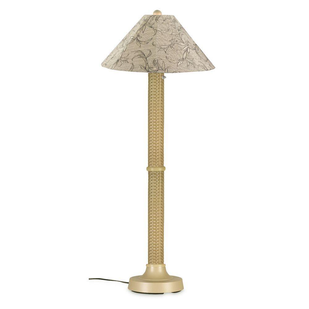 Bahama Weave 60 in. Mojavi Floor Lamp with Bessemer Shade