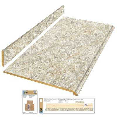 4 ft. Laminate Countertop Kit in Spring Carnival with Premium Quarry Finish and Valencia Edge