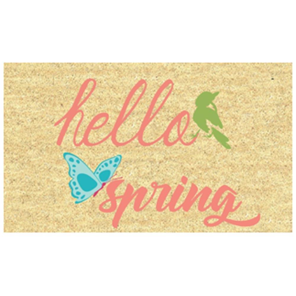 Spring 18 in. x 30 in. Bleach Coir Mat