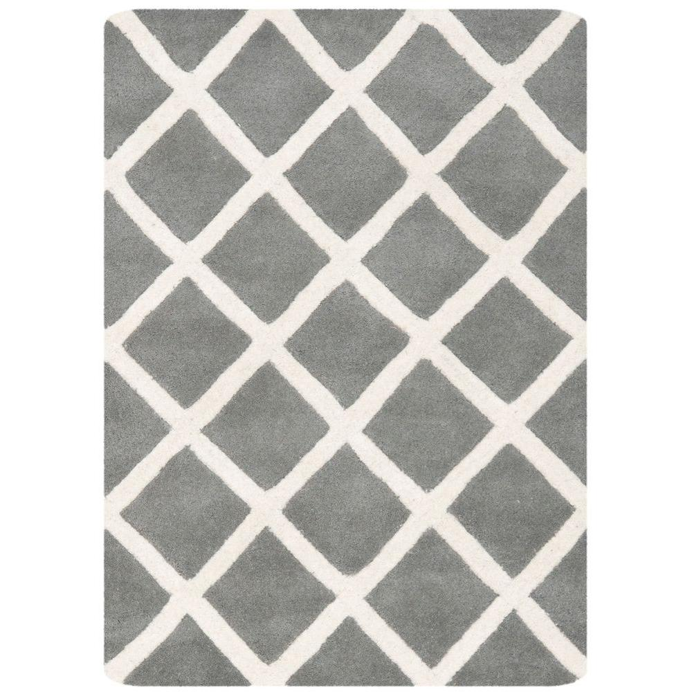 Chatham Dark Grey/Ivory 2 ft. x 3 ft. Area Rug