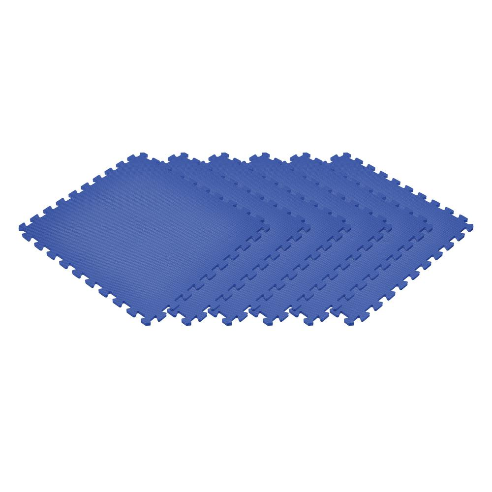 Blue 24 in. x 24 in. x 0.47 in. Foam Interlocking