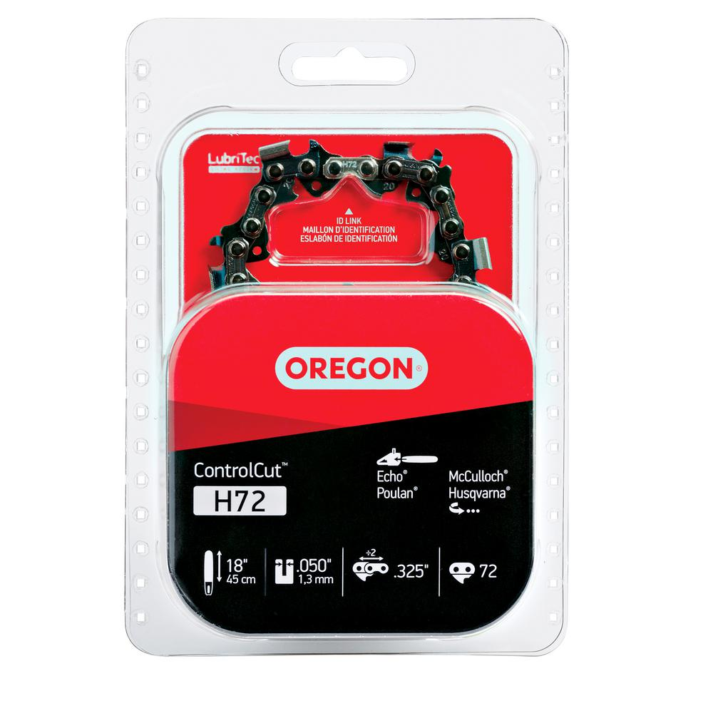 Oregon 18 in chainsaw chain h72 the home depot greentooth Choice Image
