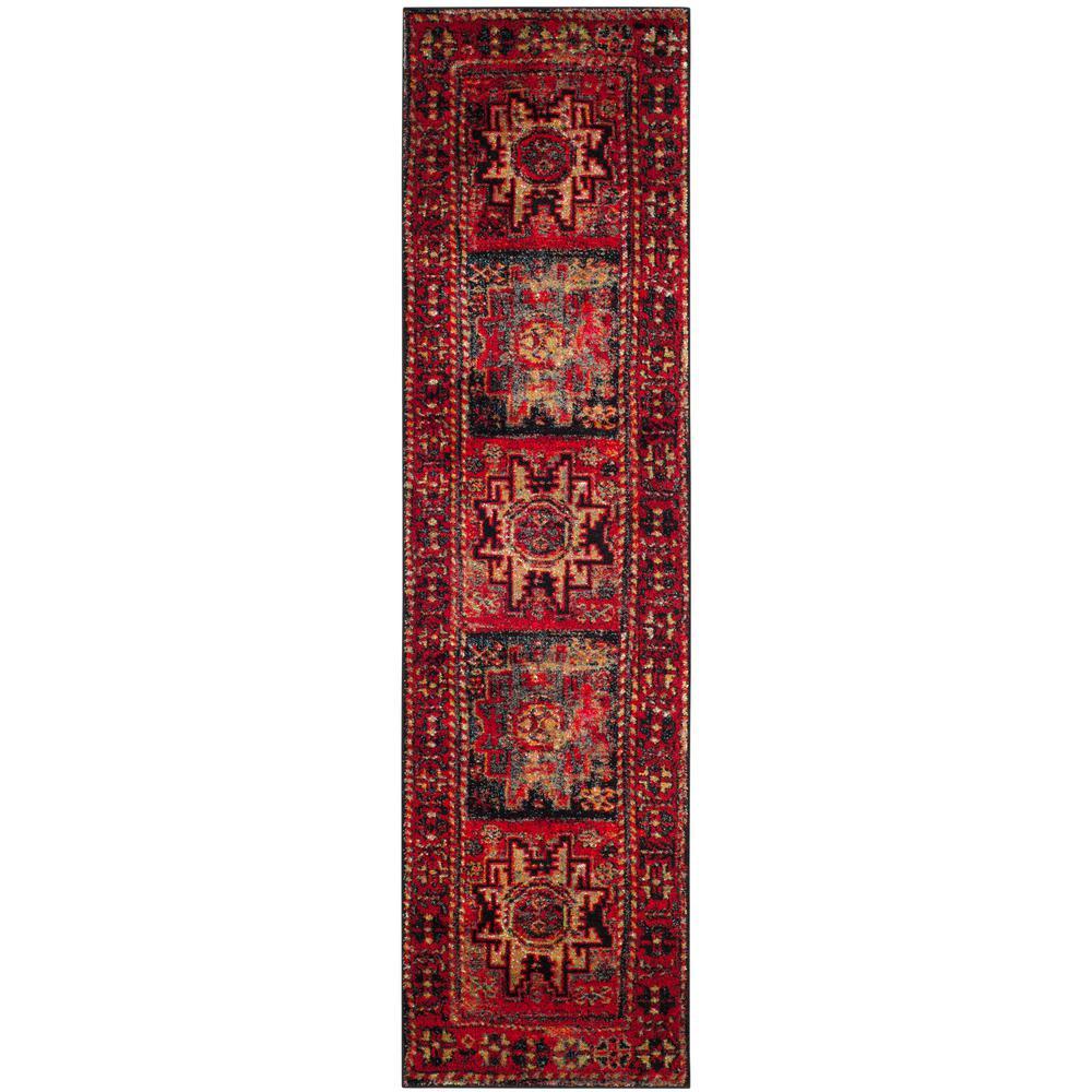 Vintage Hamadan Red/Multi 2 ft. 2 in. x 22 ft. Runner
