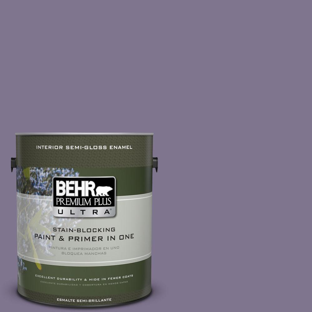 1-gal. #650F-5 Purple Statice Semi-Gloss Enamel Interior Paint