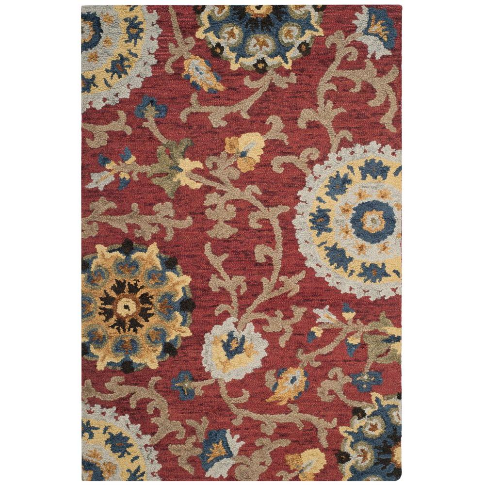 Safavieh Blossom Red Multi 4 Ft X 6 Ft Area Rug Blm401c