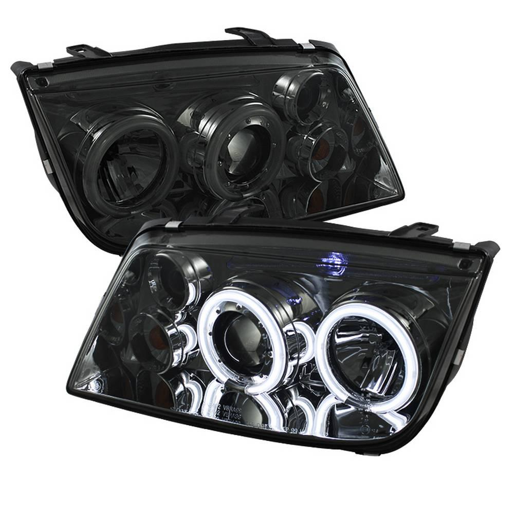 Volkswagen Jetta 99 05 Projector Headlights Doesn T Fit The 2 5 Ccfl Halo Smoke High H1 Low