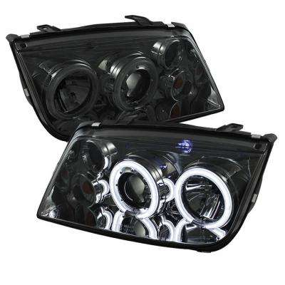 Volkswagen Jetta 99-05 Projector Headlights (Doesn't fit the Jetta 2.5) - CCFL Halo - Smoke - High H1 - Low H1