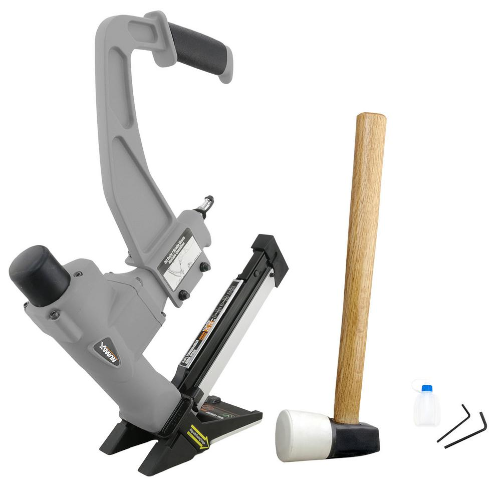 NuMax Pneumatic 3-in-1 15.5-Gauge 2 in. Flooring Stapler and 16-Gauge 2 in. Flooring Nailer