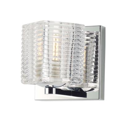 Groove 4.75 in. Wide Polished Chrome Sconce