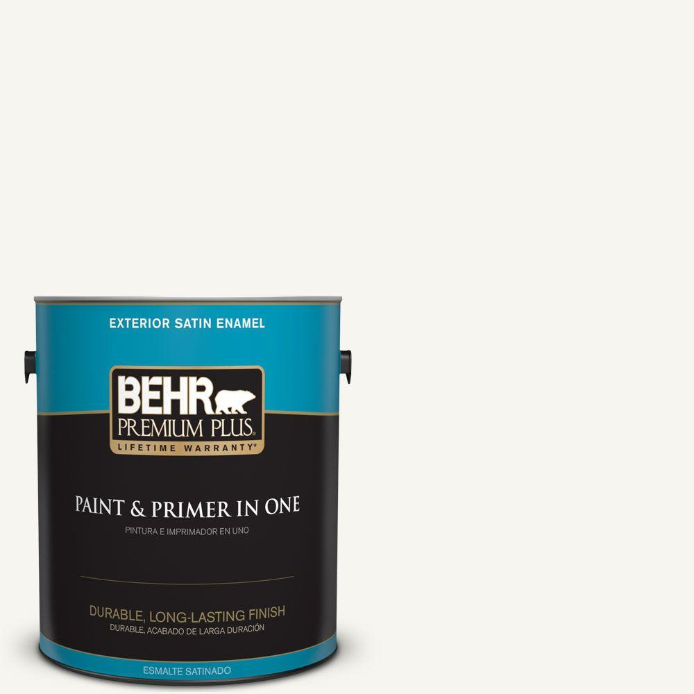 1 gal. #HDC-WR16-01 Snow Day Satin Enamel Exterior Paint