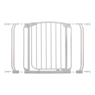 Chelsea 29.5 in. H Standard Height Auto-Close Security Gate in White with Extensions