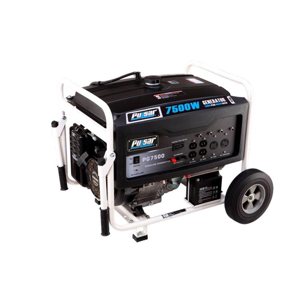 Pulsar 7,500/6000-Watt Gasoline Powered Electric/Recoil Start Portable Generator with 420 cc Ducar Engine