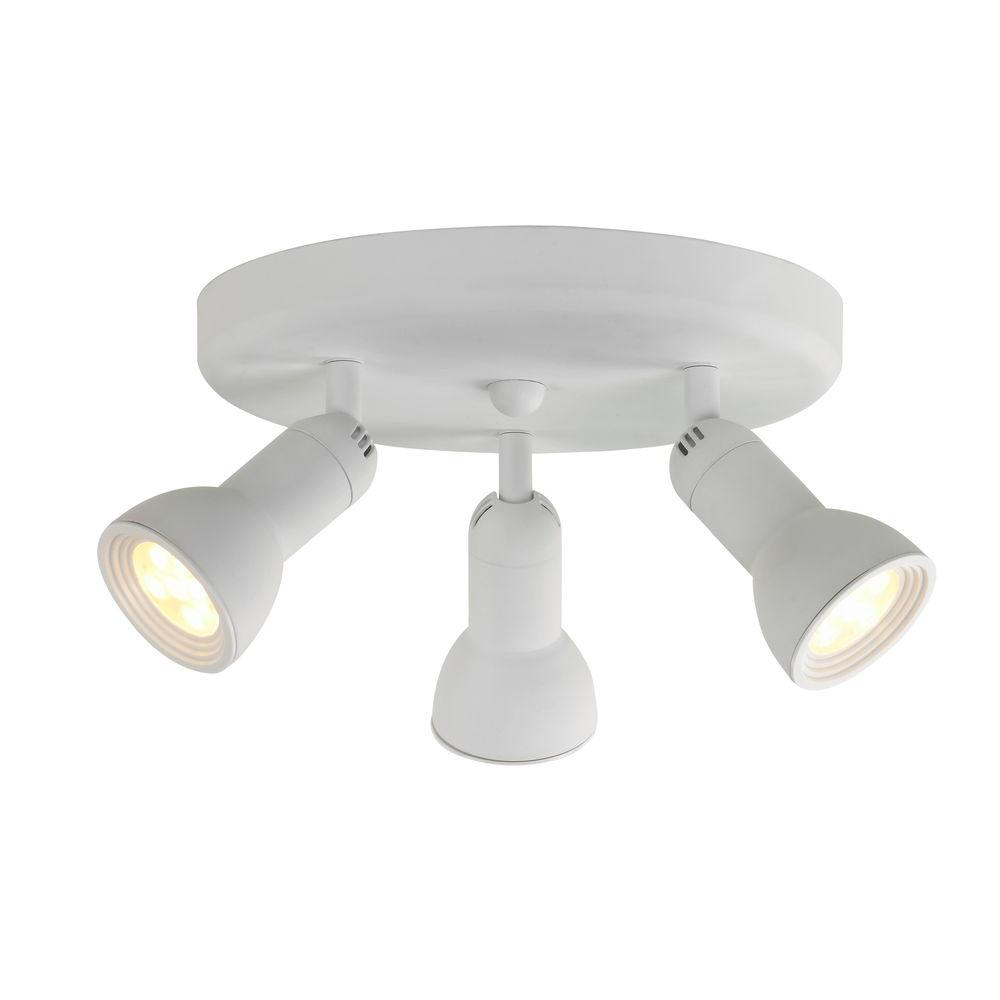 Hampton Bay 3 Light Led Round Semi Flush Directional Track Lighting