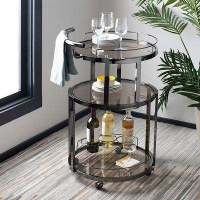 Rio 3-Tier Gun Metal Bar Cart