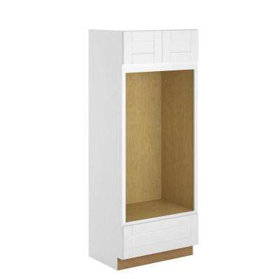 Princeton Assembled 33x84x24 in. Pantry/Utility Double Oven Cabinet in Warm White