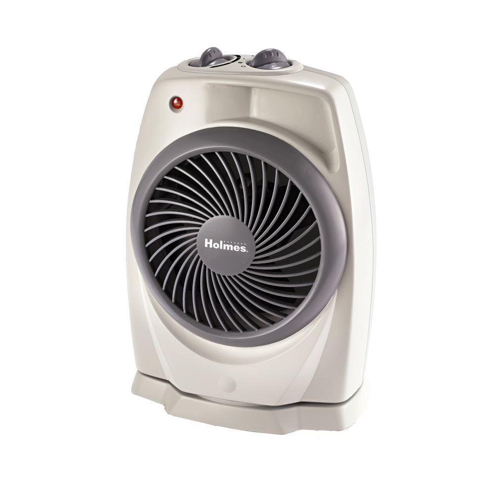 Holmes 1500 Watt Pivoting Heater Fan With Viziheat Display