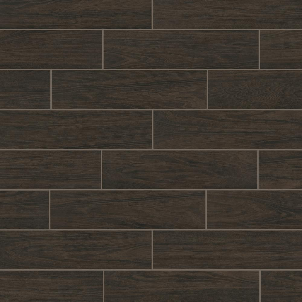 Florida Tile Home Collection Burlington Walnut 6 In X 24 Porcelain Floor And Wall 448 Sq Ft Pallet