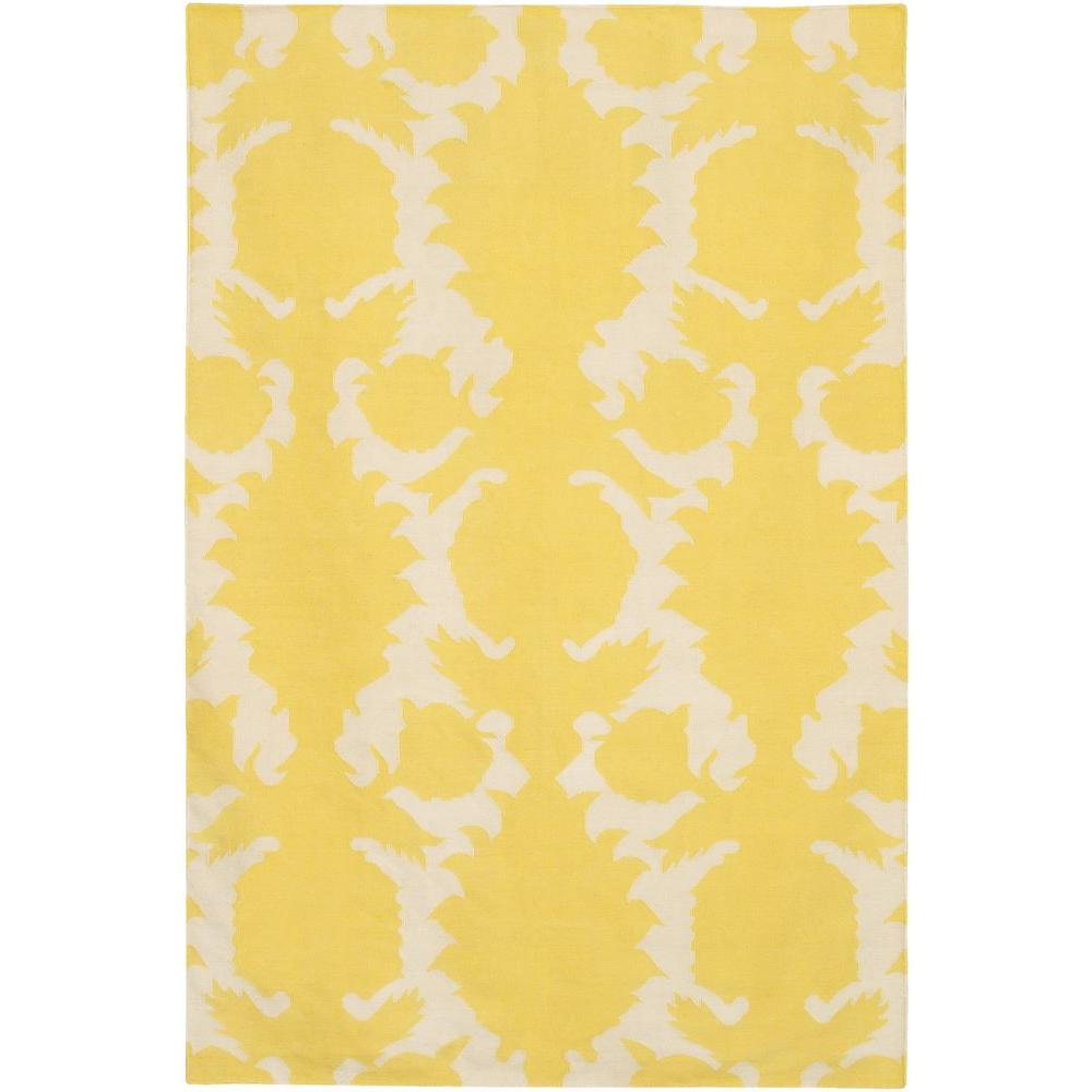 Chandra Thomaspaul Yellow/Cream 7 ft. 9 in. x 10 ft. 6 in. Indoor Area Rug