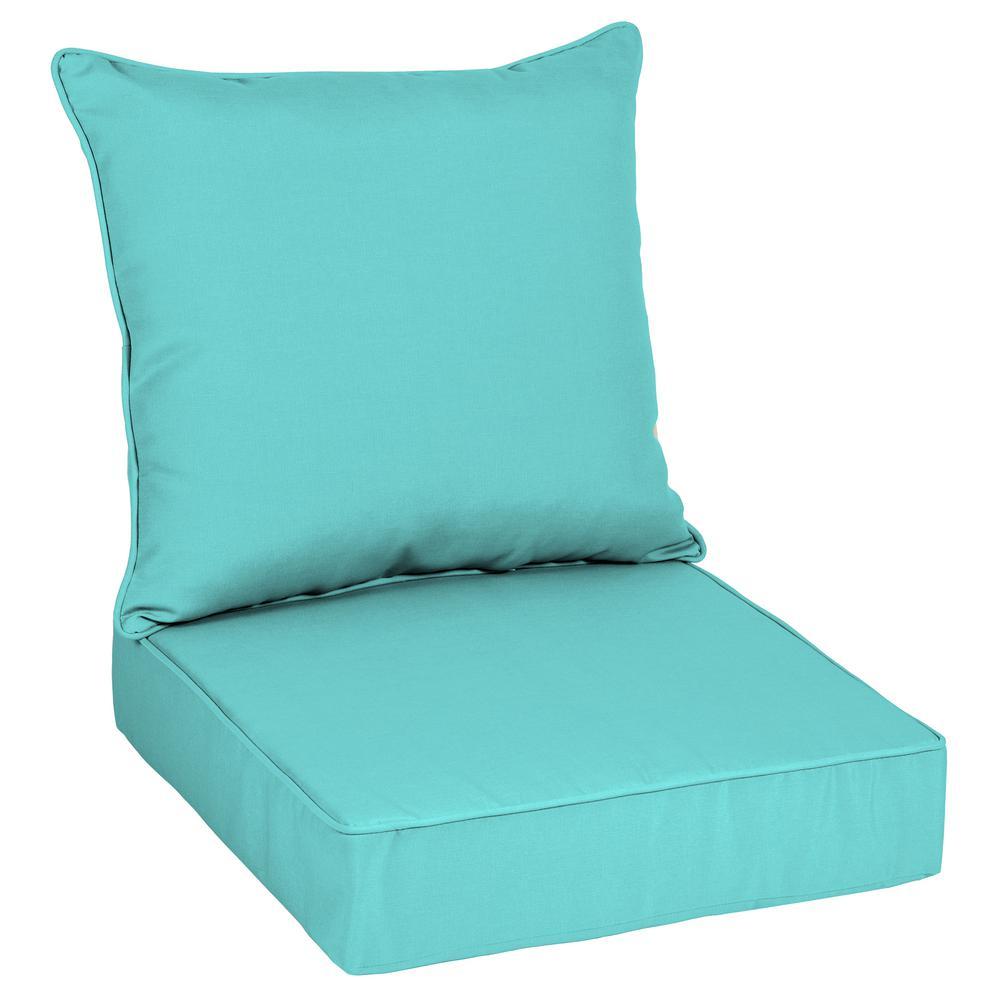 Oak Cliff 24 x 24 Sunbrella Canvas Aruba Deep Seating Outdoor Lounge Chair Cushion