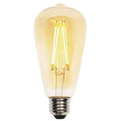 40W Equivalent Amber ST20 Dimmable Filament LED Light Bulb
