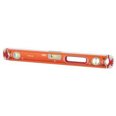 24 in. Magnetic Professional Box Beam Level with Gelshock End Caps