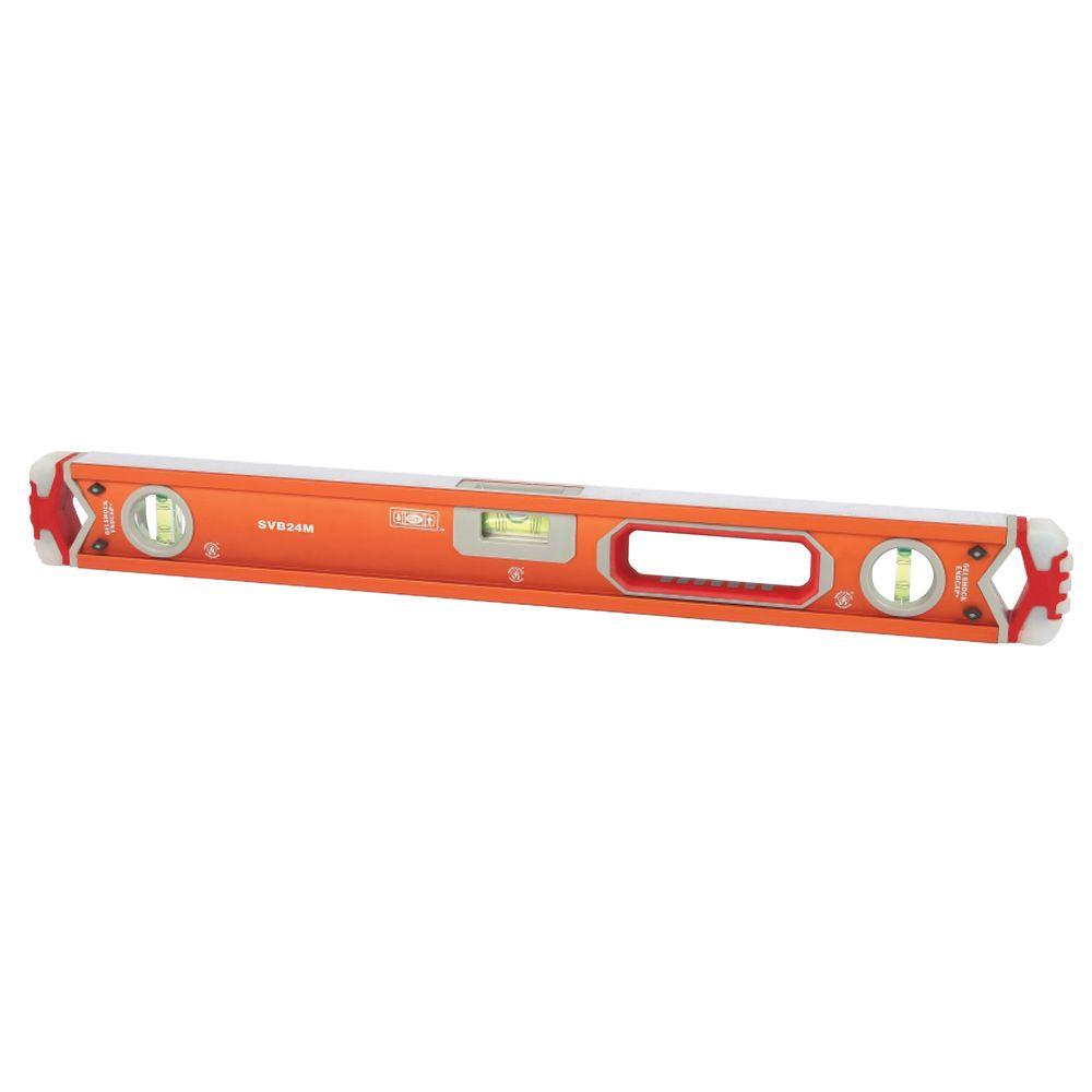 Swanson 24 in. Magnetic Professional Box Beam Level with Gelshock End Caps