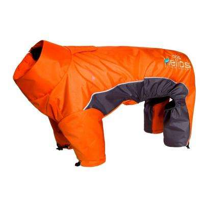 Medium Orange Blizzard Full-Bodied Adjustable and 3M Reflective Dog Jacket