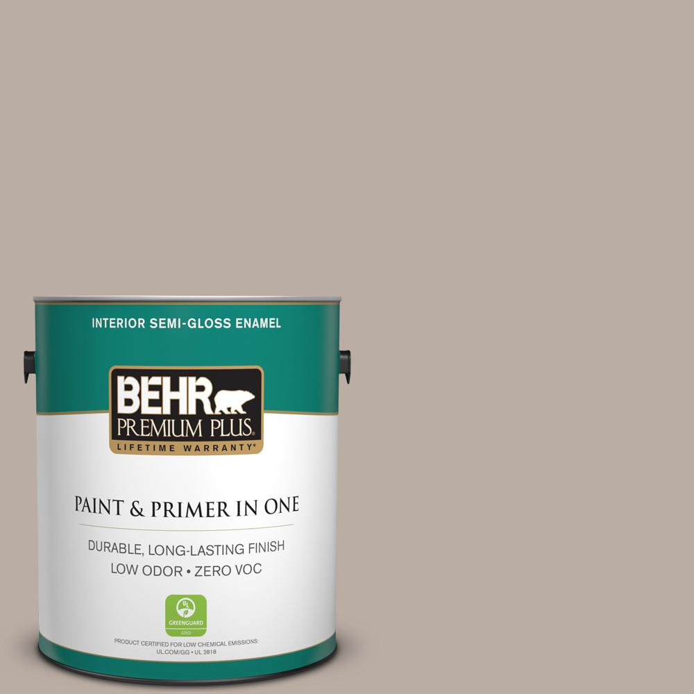 1-gal. #N200-3 Nightingale Gray Semi-Gloss Enamel Interior Paint