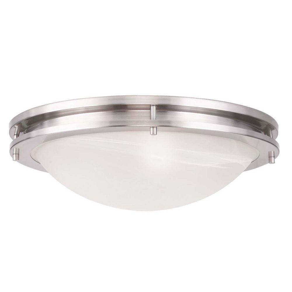 Providence 3-Light Brushed Nickel Incandescent Ceiling Flush Mount