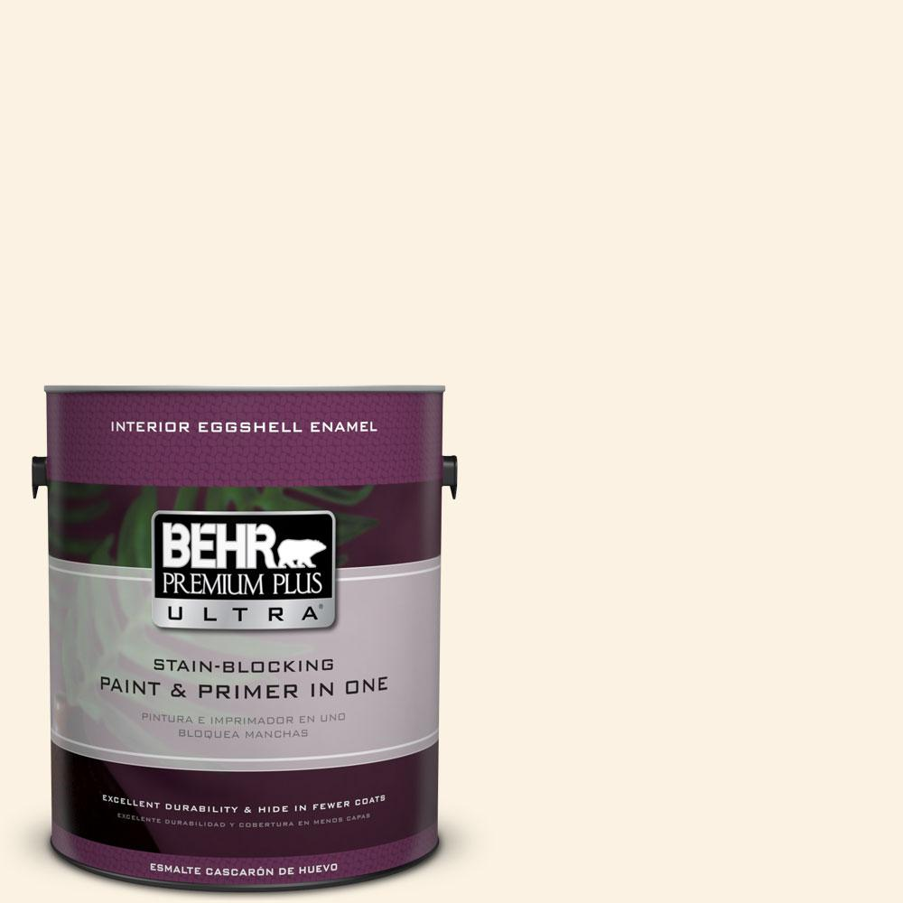 BEHR Premium Plus Ultra 1-gal. #PWN-31 Candlelight Ivory Eggshell Enamel Interior Paint