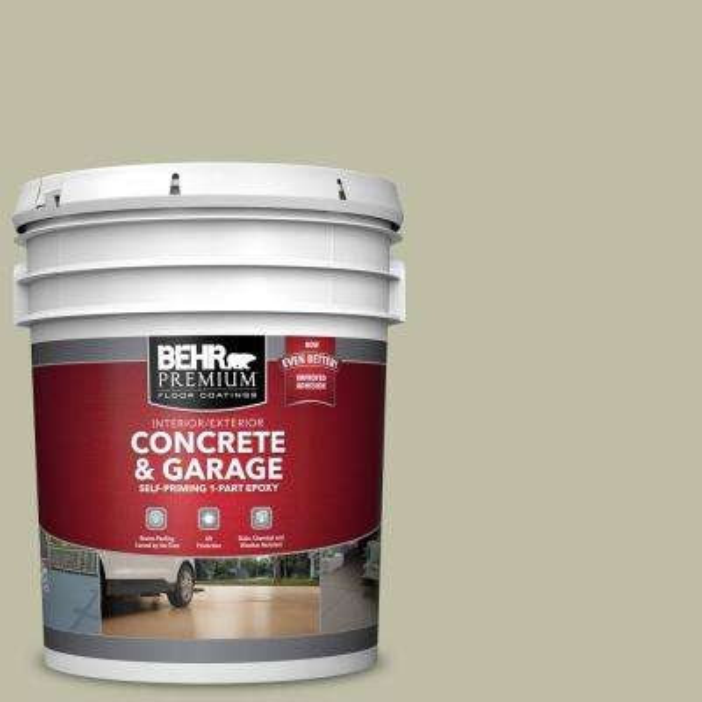 5 gal. #PFC-36 Garden Lattice Self-Priming 1-Part Epoxy Satin Interior/Exterior Concrete and Garage Floor Paint