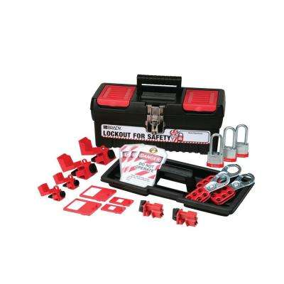 Personal Breaker Lockout Kit with 3 Keyed Alike Steel Padlocks